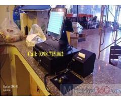 Trọn bộ máy tính tiền cảm ứng cho quán trà sữa giá rẻ tại Phú Quốc