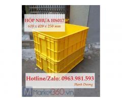 Thùng nhựa đặc HS017,hộp nhựa,sóng nhựa bít