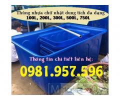 Thùng nhựa chuyên để ngoài trời, thùng nhựa dung tích lớn
