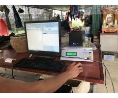 Trọn bộ máy tính tiền cho Cửa hàng nông sản- Thực phẩm tại Tiền Giang