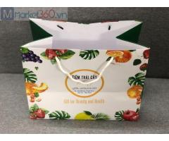 In túi giấy hoa quả, địa chỉ in túi giấy, thiết kế túi giấy, báo giá i