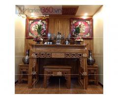 Các mẫu bàn thờ gia tiên đơn giản đẹp mắt giá rẻ Quận 12