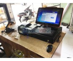 Máy tính tiền cảm ứng trọn bộ cho tiệm bánh Kem tại Lâm Đồng
