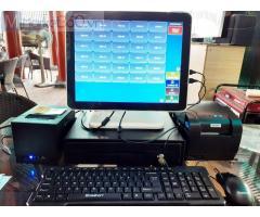 Máy tính tiền cảm ứng 2 màn hình cho quán Trà sữa- Ăn vặt tại Trà Vinh