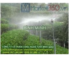 Hệ thống tưới phun mưa cho rau, hệ thống tưới phun mưa cho vườn rau sạch tại nhà, hệ thống tưới phun mưa tự động xoay