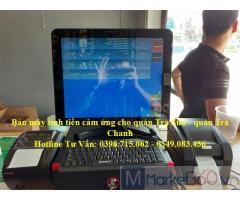 Nhận lắp máy tính tiền cảm ứng siêu rẻ cho quán cam ép, quán rau má tại Phú Quốc
