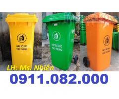 Thùng rác 40 lít 2 ngăn giá rẻ- sỉ thùng rác 120L 240L 660L giá thấp-