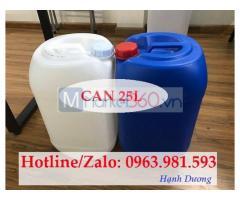 Can nhựa 25L, can nhựa đựng hóa chất