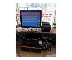 Lắp combo máy tính tiền giá rẻ tại phú quốc cho quán rau má