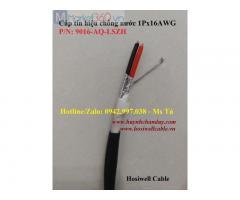 Cáp tín hiệu chống nước, chống nhiễu 2x16AWG (9016-AQ-LSZH), 305m/cuộn, vỏ LSZH