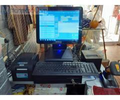 Máy tính tiền cảm ứng trọn bộ bằng mã vạch cho Shop quần áo tại Sóc Trăng