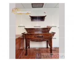 Tổng hợp các bộ bàn thờ gia tiên bằng gỗ đẹp đơn giản Quận 9