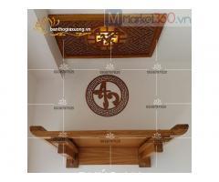 Chiêm ngưỡng ngay các mẫu bàn thờ treo tường đẹp giá rẻ Quận12