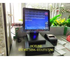 Chuyên trọn bộ máy tính tiền cảm ứng cho Quán trà sữa tại An Giang