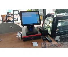 Trọn bộ máy tính tiền cảm ứng cho quán Trà sữa- Coffee ở Hà Tĩnh
