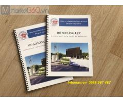 In quyển hồ sơ năng lực, báo giá quyển catalogue, in quyển hồ sơ