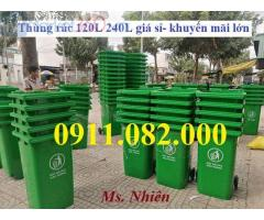 Thanh lý 3000 thùng rác mới 100% giá rẻ- Thùng rác 120L 240L 660L-