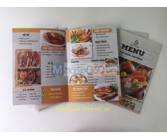 Thiết kế menu nhà hàng, in menu nhà hàng, đặt in menu rẻ