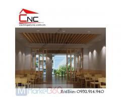 Lam gỗ trang trí phòng khách hiện đại giá rẻ Quận Bình Thạnh