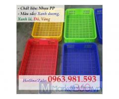 Thùng nhựa rỗng HS010,sọt nhựa HS010