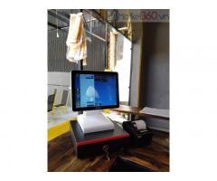 Trọn bộ máy tính tiền cảm ứng cho quán Trà sữa- Coffee ở Đà Nẵng