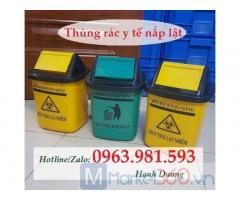 Thùng rác y tế 5L nắp lật