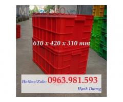 Sóng nhựa bít HS019, thùng nhựa có nắp