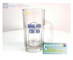 In logo lên ly thủy tinh số lượng lớn, in logo lên ly thủy tinh giá rẻ, in logo quảng cáo lên ly thủy tinh theo yêu cầu
