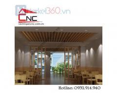 Lam gỗ trang trí phòng khách đơn giản hiện đại giá rẻ Quận 5
