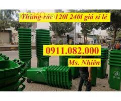 Mua bán thùng rác giá rẻ- giảm giá thùng rác 120 lít 240 lít giá thấp-