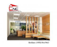 Lam gỗ kết hợp tủ kệ đa năng trang trí hiện đại Quận Tân Bình