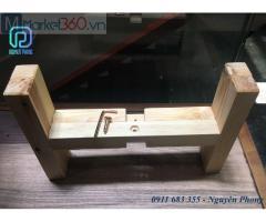 Kệ đôn gỗ vuông đẹp làm đôn trang trí cực đơn giản, tiện lợi, nhỏ gọn