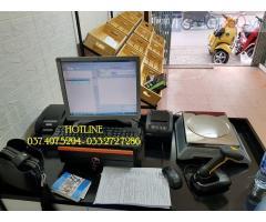 Bộ máy tính tiền bằng mã vạch cho cửa hàng thực phẩm tại An Giang