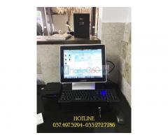 Trọn bộ máy tính tiền cảm ứng cho Hottel- Nhà nghĩ tại Kiên Giang