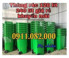 Xe gom rác 660 lít giá rẻ tại cần thơ- thùng 120 lít 240 lít, thùng rác đạp chân giá sỉ-