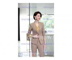 Công ty may áo vest nữ công sở theo size chuẩn đẹp hoàn hảo