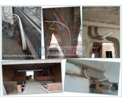 Thi công đường ống đồng - đi ống chờ máy lạnh cho công trình TP Thủ đức
