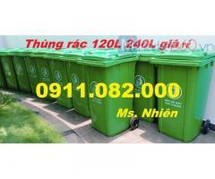 Thùng rác 240 lít giá sỉ tại cần thơ- thùng rác y tế 25 lít, 120 lít giá rẻ-