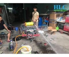 Máy phun thuốc sâu áp lực tự chế công nghiệp thùng phi 250 lít