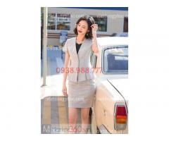 Xưởng nhận may áo vest nữ đồng phục giá rẻ - Nhận may theo mẫu tại Hà Nội