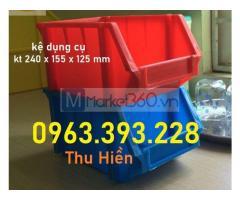Kệ dụng cụ xếp chồng, khay link kiện giá rẻ, khay nhựa giá rẻ, thùng nhựa đặc