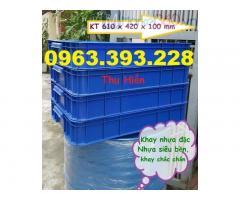 Khay nhựa đặc giá rẻ, thùng nhựa công nghiệp, thùng nhựa cơ khí giá rẻ, khay nhựa có nắp