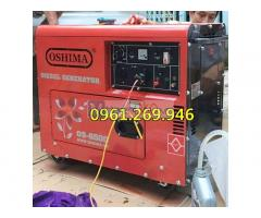 Máy phát điện Oshima 6500 công suất 5kw mẫu mới, chạy dầu, chống ồn, đề nổ