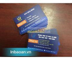 Địa chỉ in card giá rẻ, thiết kế card visit, báo giá card công ty