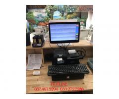 Máy tính tiền cảm ứng 2 màn hình cho Quán trà sữa tại Vĩnh Long
