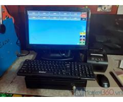 Bộ máy tính tiền cảm ứng cho cho Quán Mỳ cay- Trà sữa tại Kiên Giang