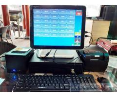 Bộ máy tính tiền cảm ứng 2 màn hình cho quán Trà sữa tại An Giang