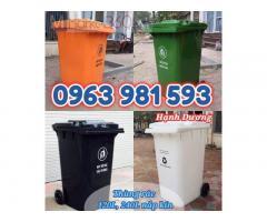Thùng rác nhựa HDPE 120L, 240L nắp kín