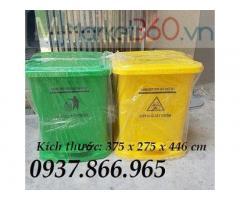 Thùng rác lít tại hà nội(thùng rác nhựa y tế), thùng rác y tế màu vàng, thùng rác chất thải lây nhiễm