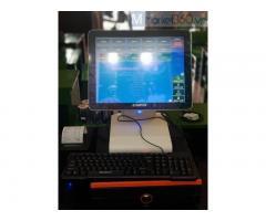 Bộ máy tính tiền cảm ứng cho quán Sữa chua Hạ long tại Đà Nẵng